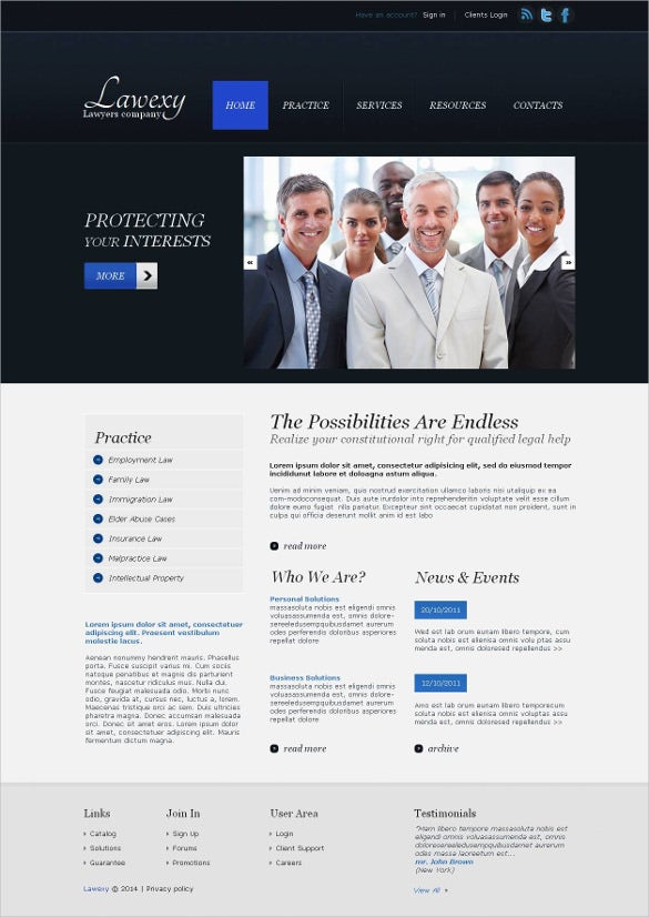 law legal moto cms html website template