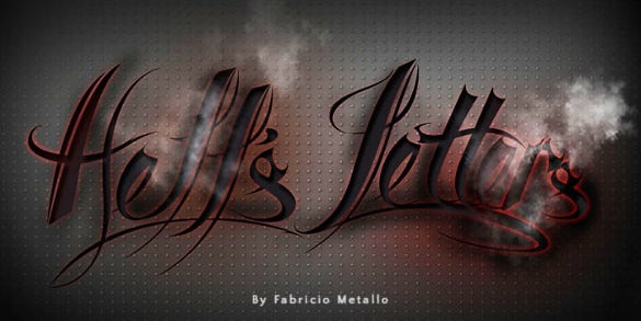 hells letters font