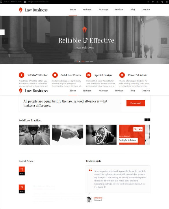 law legal business wordpress website theme