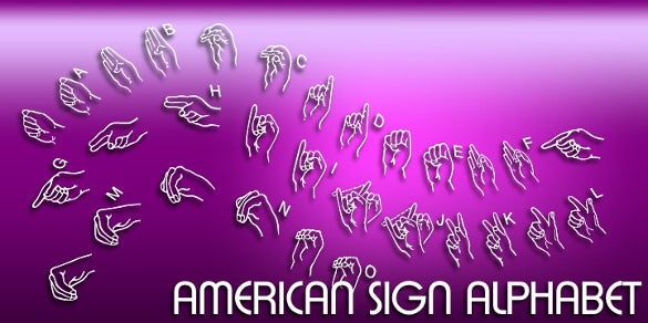 american sign alphabet font