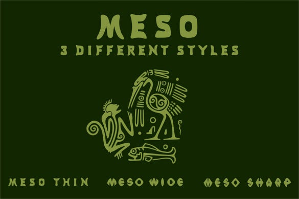 meso 3 font styles