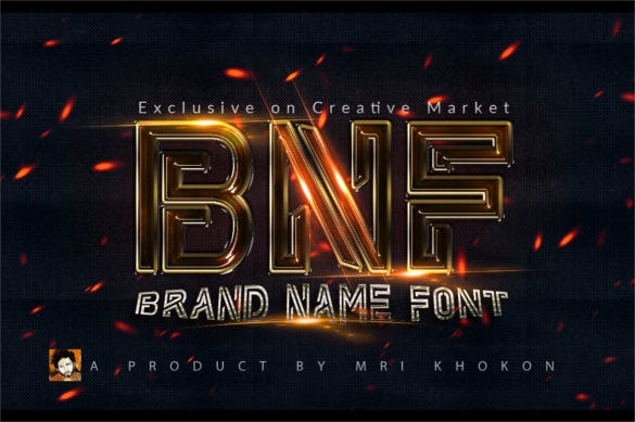 brand name font style