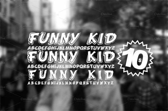 funny kid 3 fonts