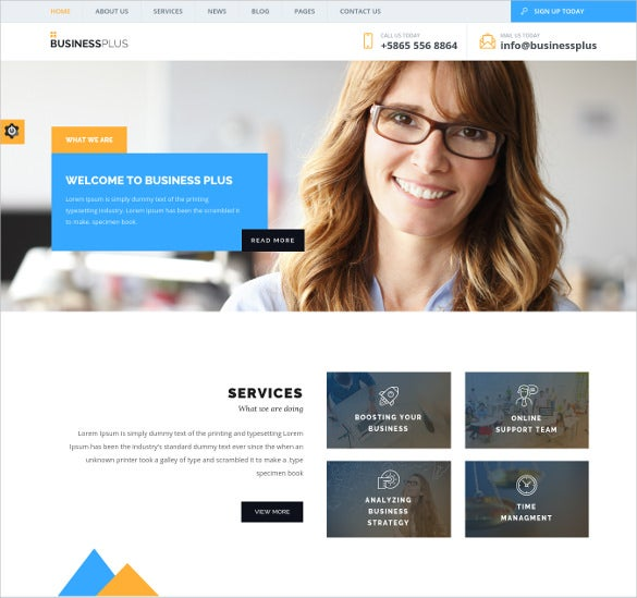 corporate business wordpress one page website theme