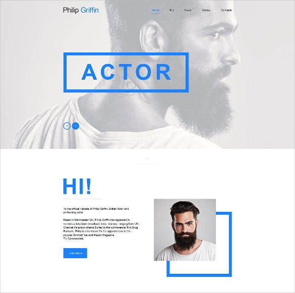 personal page muse website template