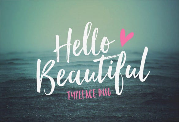 hello beautiful font duo bold