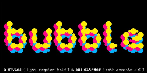 curly lava bubble font