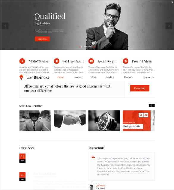 law legal business html5 website template