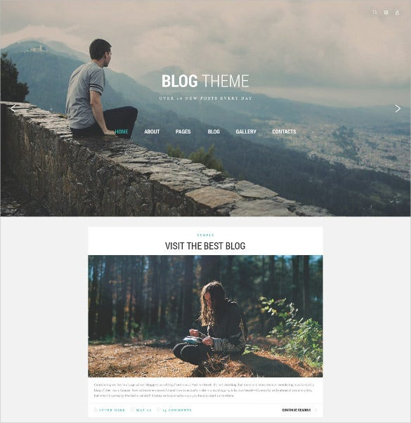 blog theme joomla website template