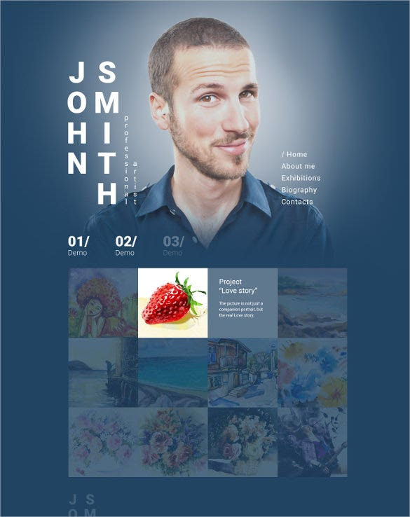 john smith personal website template