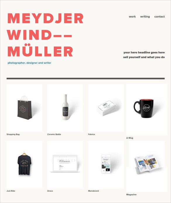 creative personal portfolio website theme