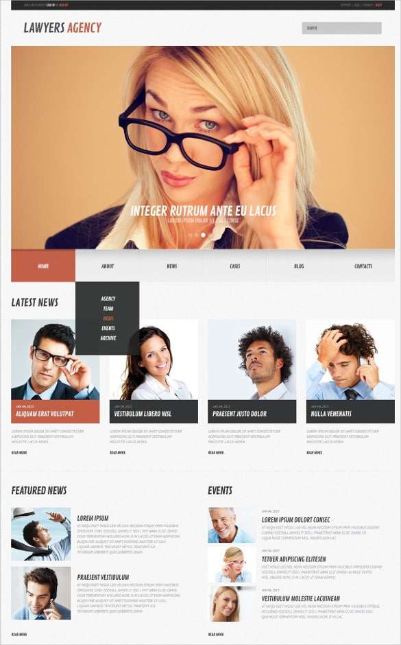 law legal firm wordpress website theme