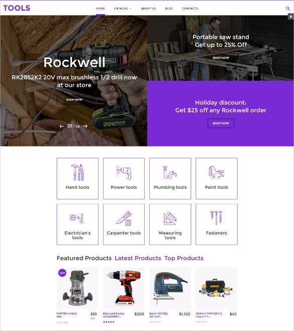tools virtuemart ecommerce website template