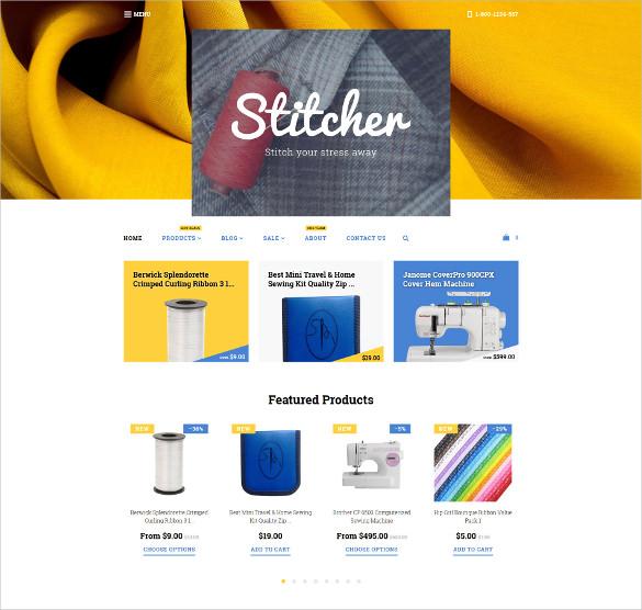 stitcher shopify ecommerce website theme