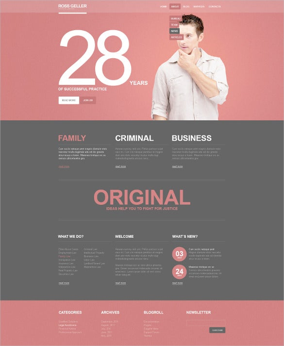 progressive law legal psd template