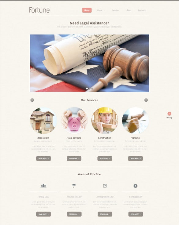 law legal assistance psd template