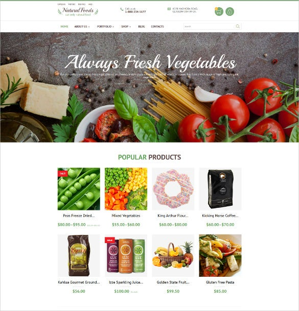natural foods marketing woocommerce theme