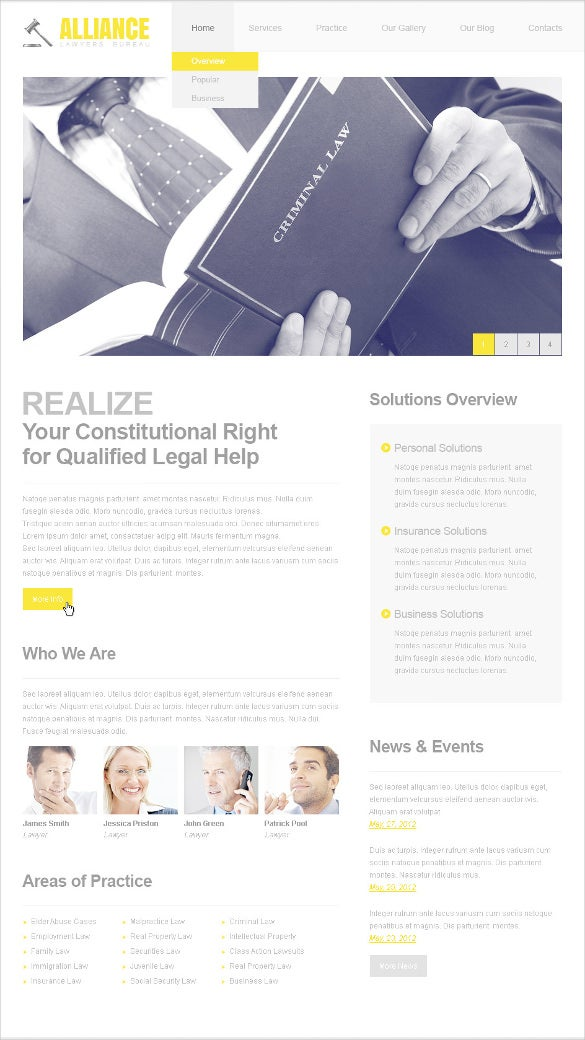 premium law legal psd template