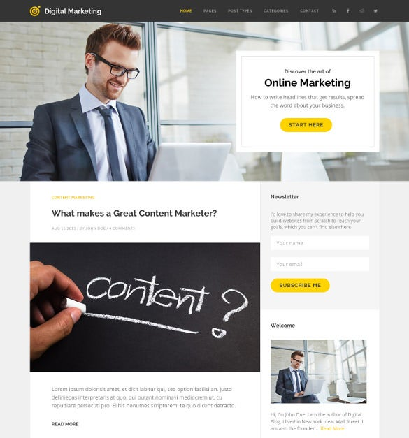 digital marketing blog wordpress theme