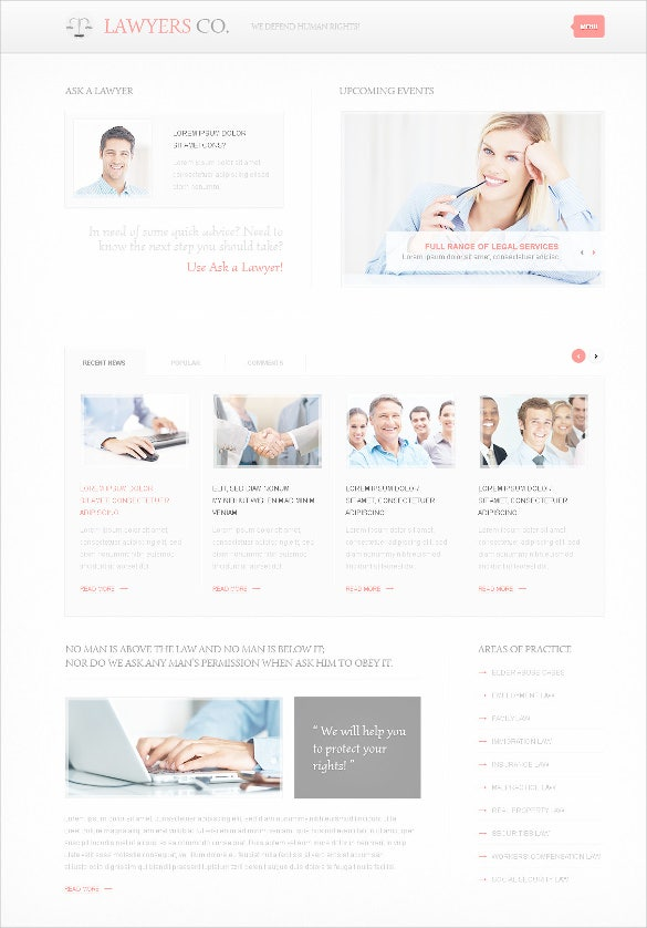responsive law legal template