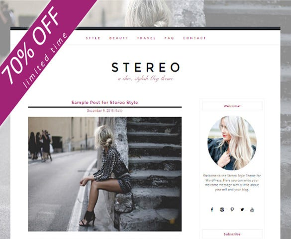stereo chic stylish blog child marketing theme
