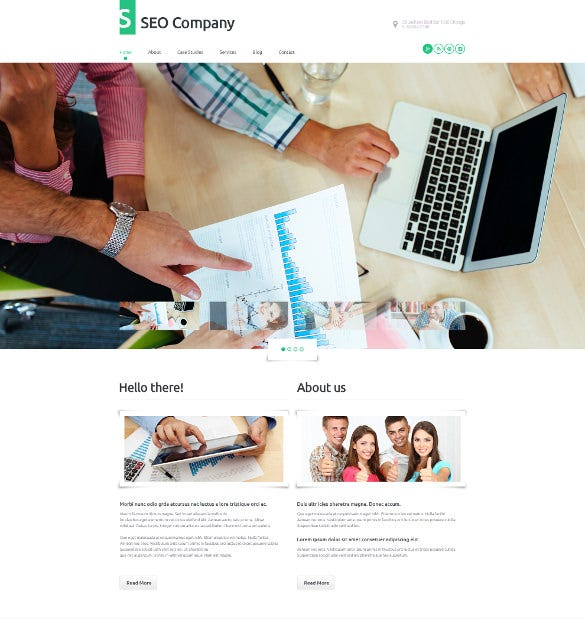 seo company wordpress blog theme