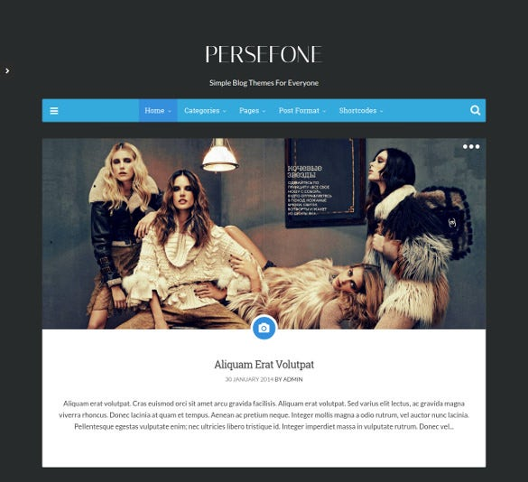 personal responsive wordpress blog theme