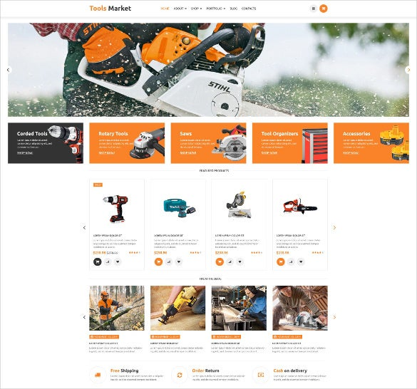 equipment market woocommerce blog theme