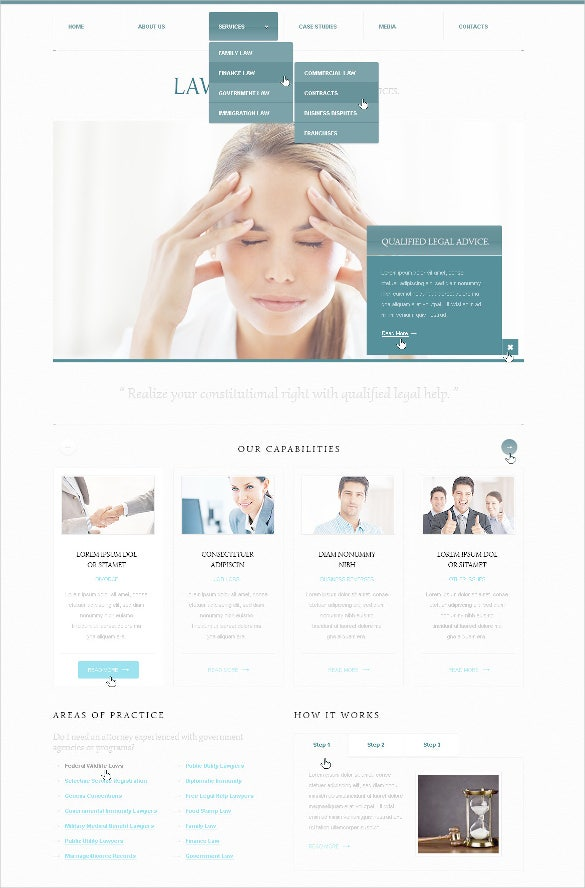 elagent law legal psd template