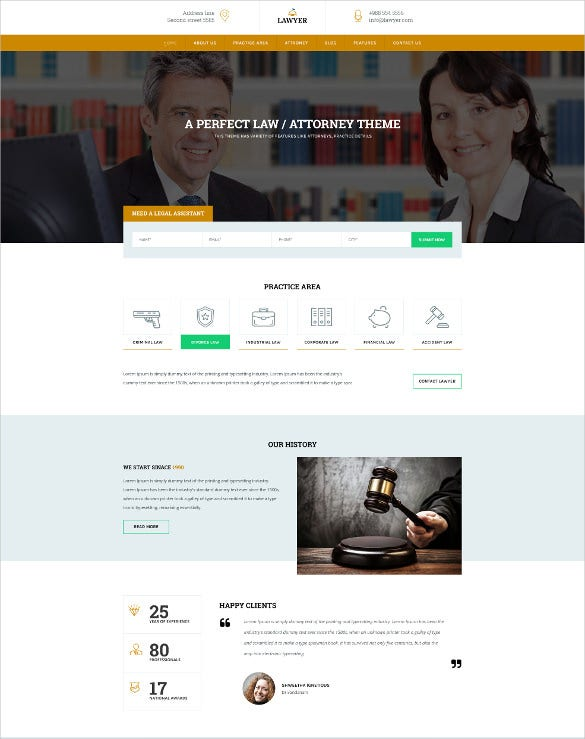 law legal justice psd templates