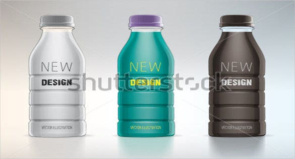 plastic water bottle label for new design1