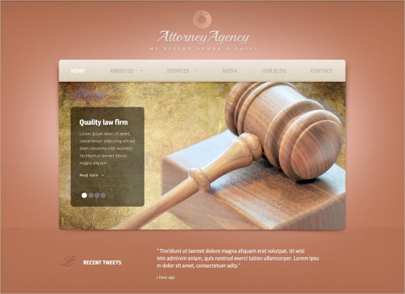 law legal quality psd template