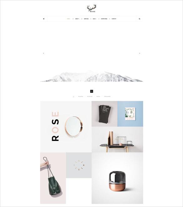 minimalist agency architecture portfolio blog theme