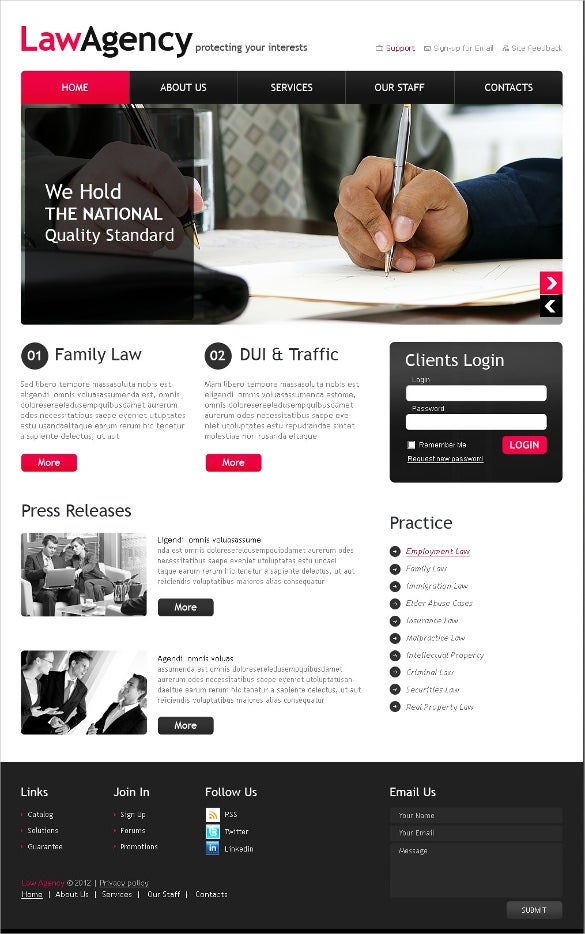 law legal trust psd template