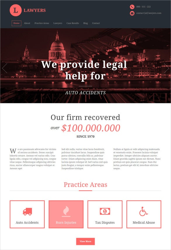 law legal html5 psd template