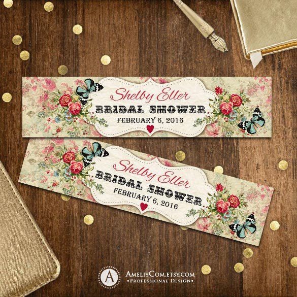 printable water bottle label for bridal shower download