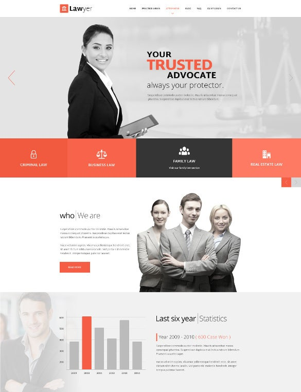 law legal adviser psd template
