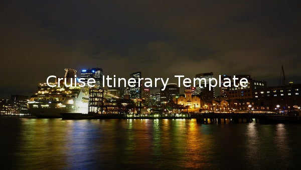 cruiseitinerarytemplate