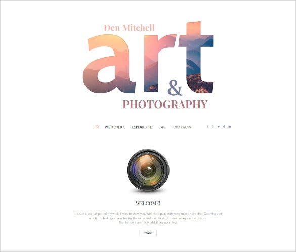 art photography responsive moto cms 3 website template1