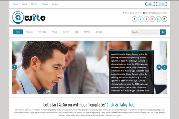 tm awite bootstrap joomla3 marketing template1