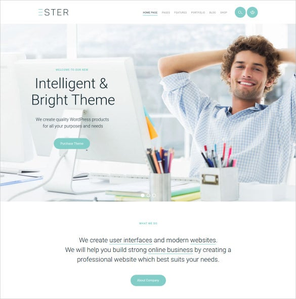 premium artistic agency website theme