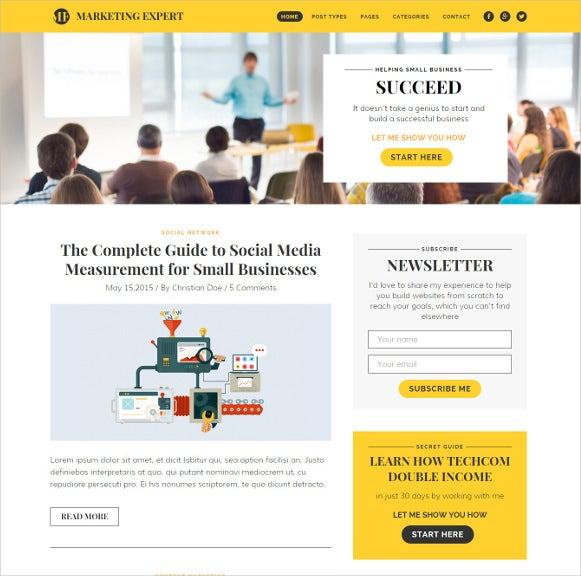 expert blog wordpress theme for marketer1