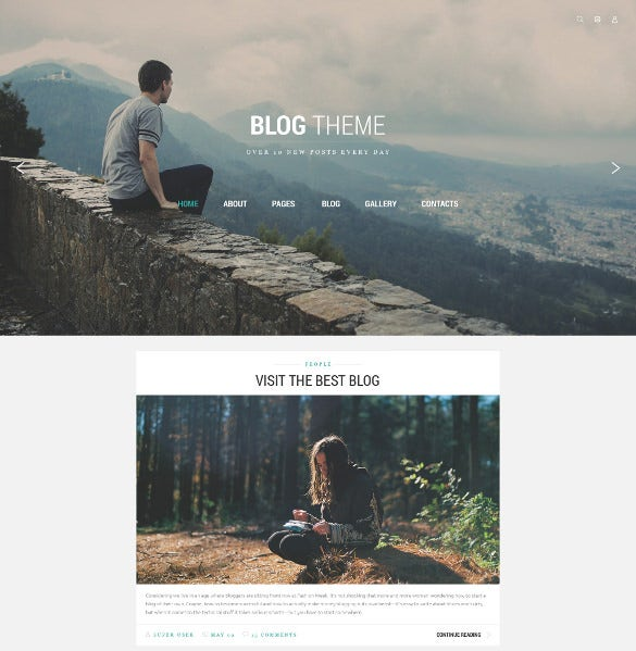 blog theme joomla template1