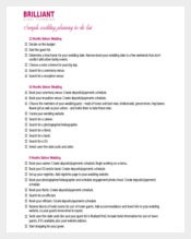Briliant Wedding Event Planner Itinerary Template