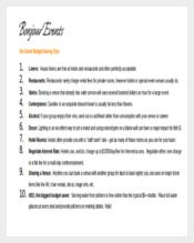 Budget Saving Tips For Events Itinerary Templates