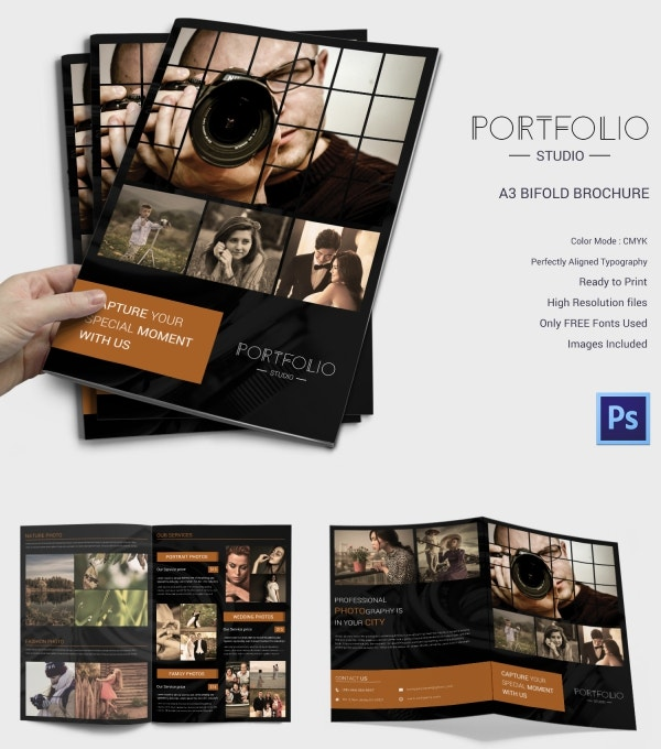 Premium Bi-fold Photography Brochure Template