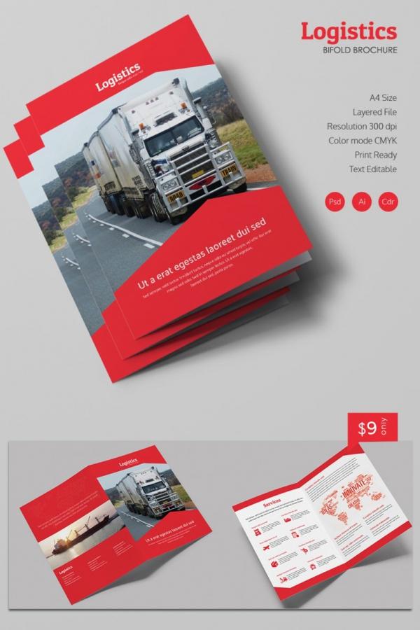 Logistics Bi Fold Brochure