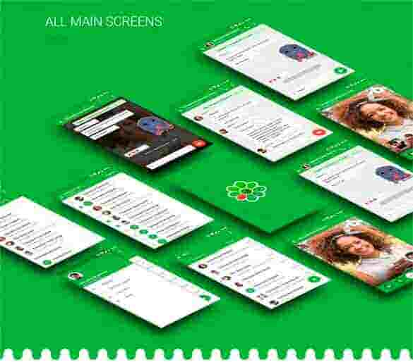 icq video chat concept app design min