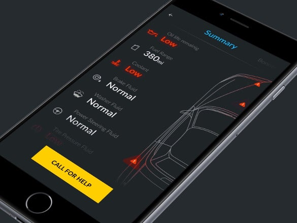remote car control app design1
