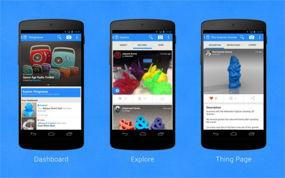 41 android app designs with beautiful interface free premium makerbot thingiverse android app pronofoot35fo Images